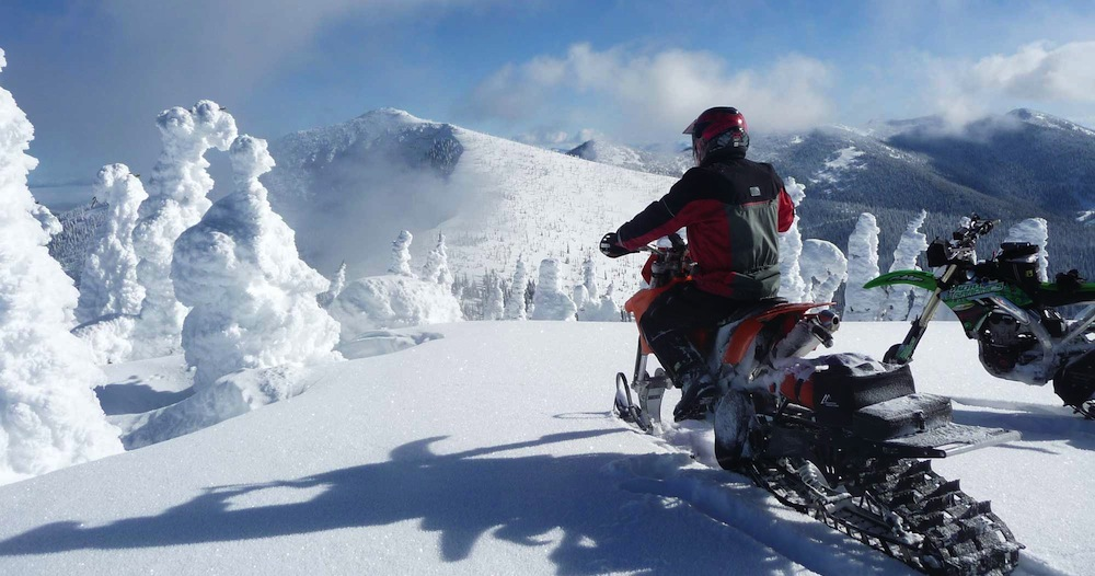 Snowmobiling at Priest Lake, Idaho