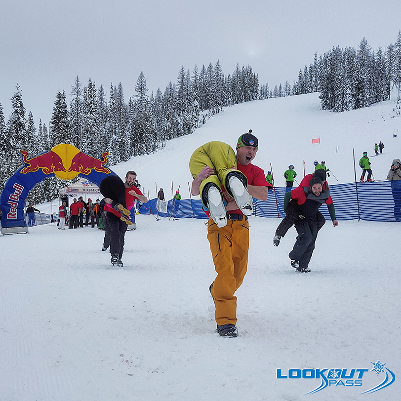 Image result for kids snowbowling lookout pass