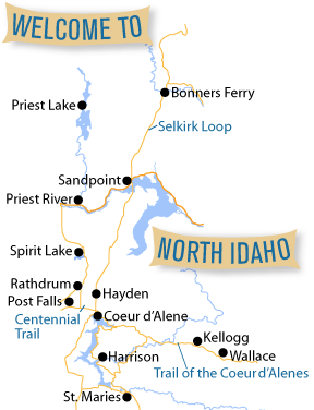 North Idaho map